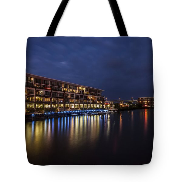River Colors Tote Bag