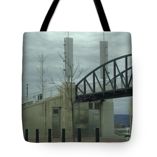 River Common Entry Tote Bag by Christina Verdgeline
