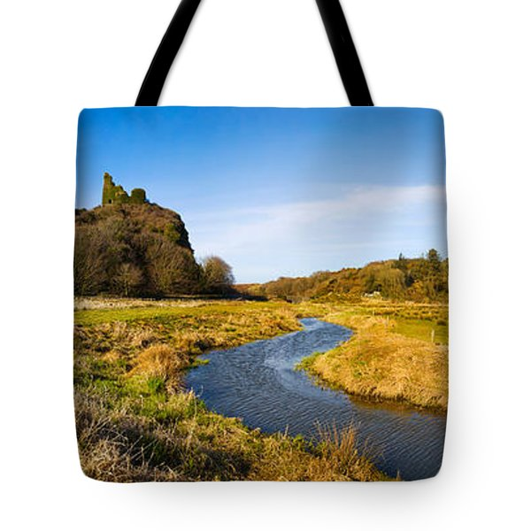River Flowing Through Landscape Tote Bag