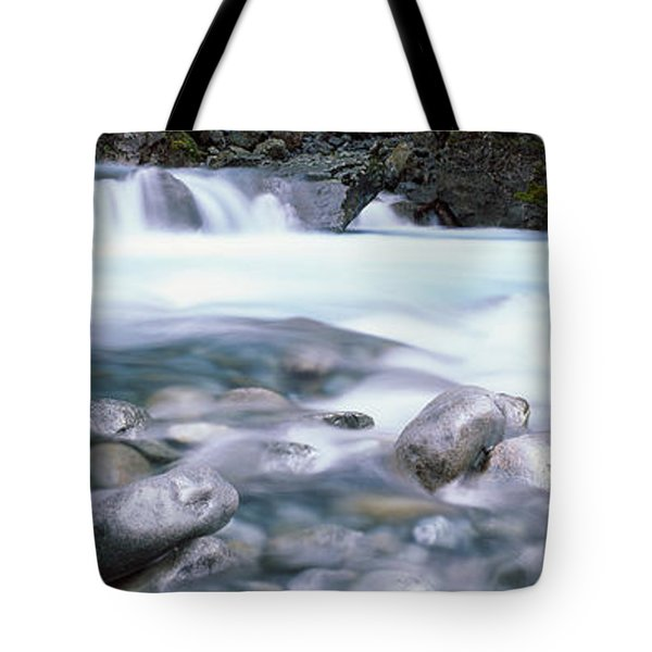 River, Hollyford River, Fiordland Tote Bag by Panoramic Images
