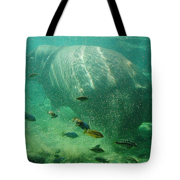 Tote Bag featuring the photograph River Horse by David Nicholls