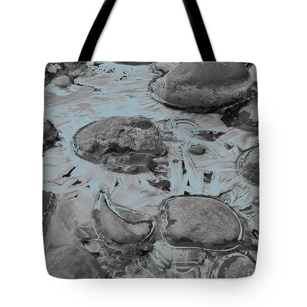 River Ice Blue Tote Bag