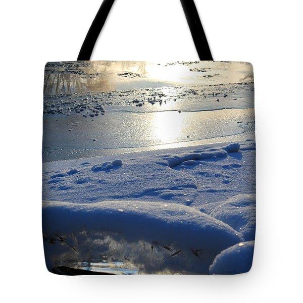 River Ice Tote Bag by Hanne Lore Koehler