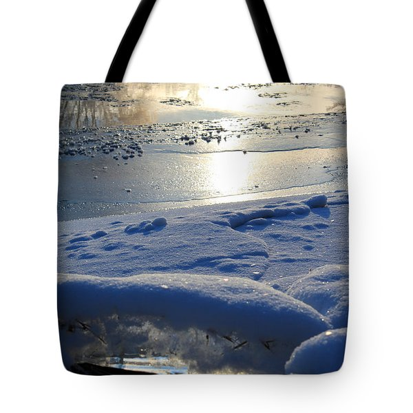River Ice Tote Bag by Hanne Lore Koehler