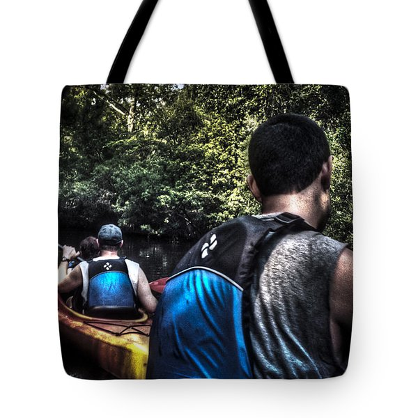 River Kayaking Tote Bag by Deborah Klubertanz
