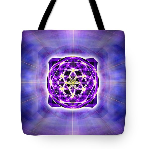 Tote Bag featuring the drawing River Of Ascended Light by Derek Gedney