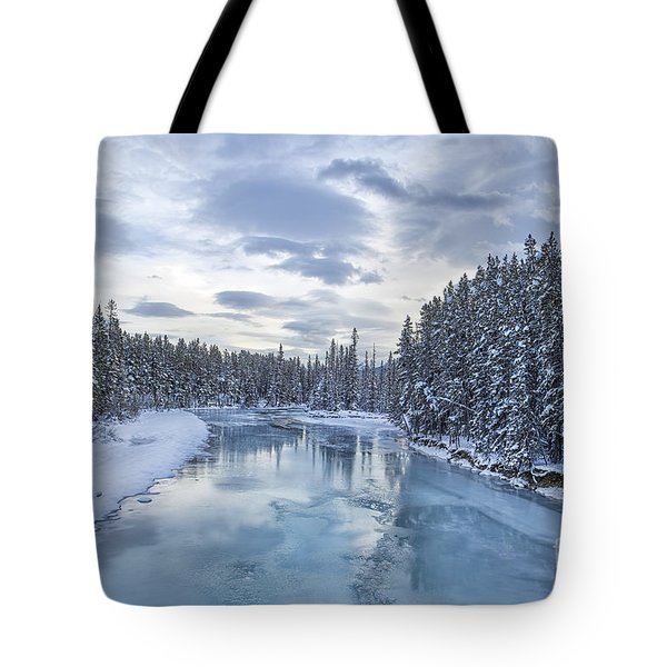 River Of Ice Tote Bag