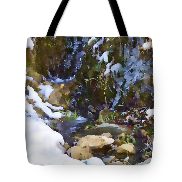 River Painting Tote Bag by Donna Greene