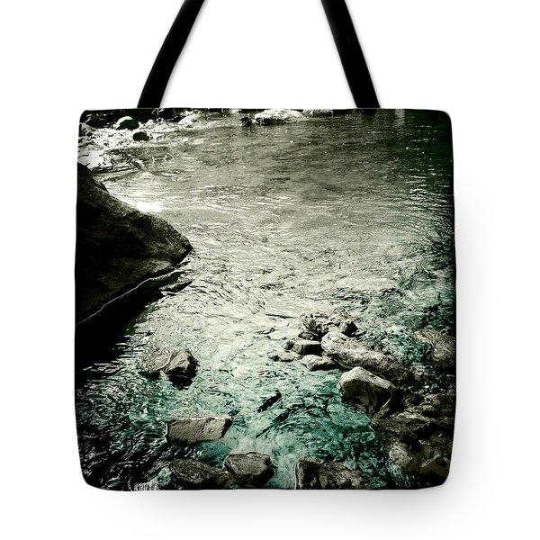 River Rocked Tote Bag by Susan Maxwell Schmidt