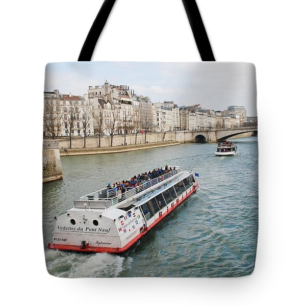 River Seine Excursion Boats Tote Bag