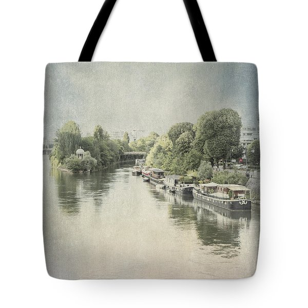 Tote Bag featuring the photograph River Seine In Paris by Elaine Teague