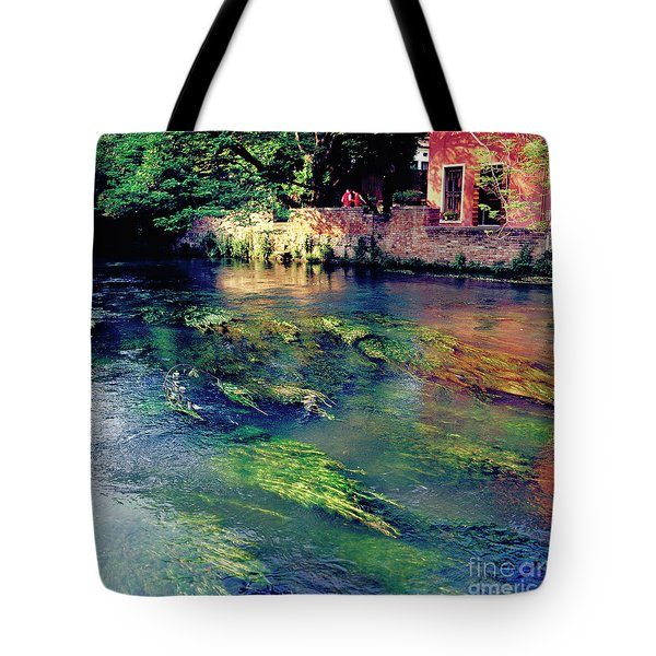 River Sile In Treviso Italy Tote Bag by Heiko Koehrer-Wagner