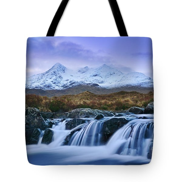 Waterfall And The Cuillins Tote Bag