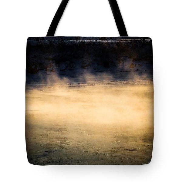 River Smoke Tote Bag by Bob Orsillo
