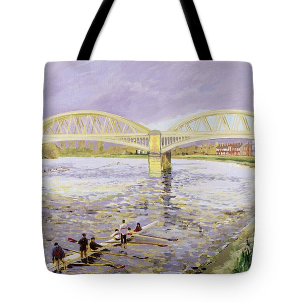River Thames At Barnes Tote Bag by Sarah Butterfield