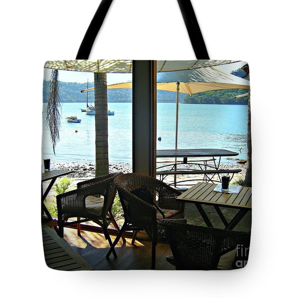 Tote Bag featuring the photograph River View by Leanne Seymour