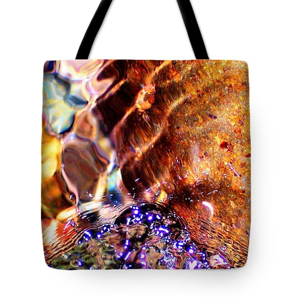 River Water Abstract Tote Bag