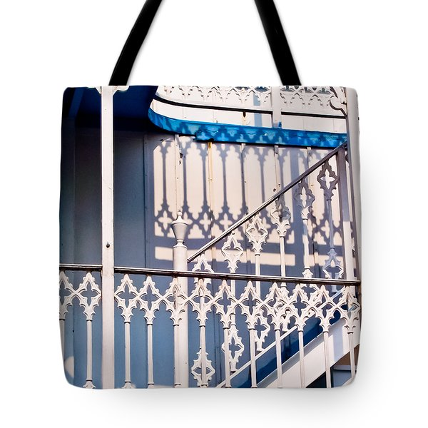 Riverboat Railings Tote Bag