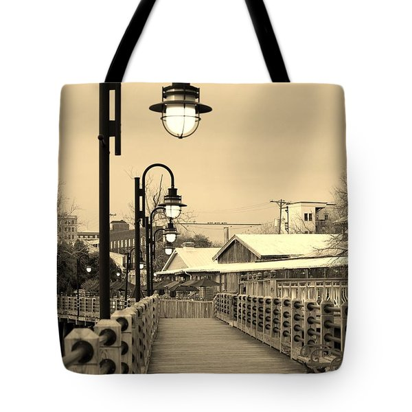 Riverfront Tote Bag by Cynthia Guinn