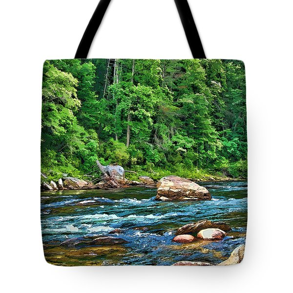 Tote Bag featuring the photograph Riverview by Kenny Francis