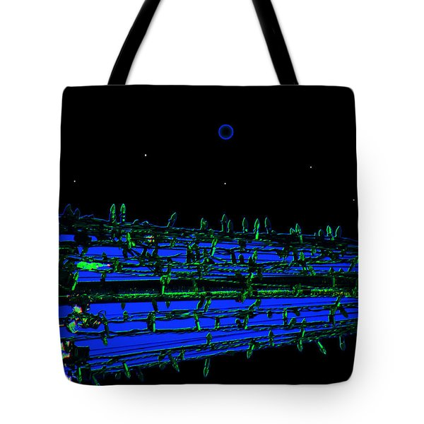 Riverwalk Night Lights Tote Bag by Lenore Senior