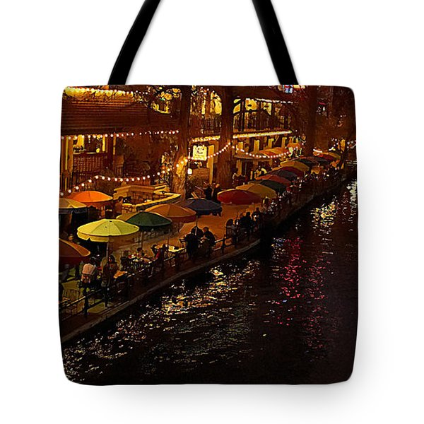 Riverwalk Night Tote Bag