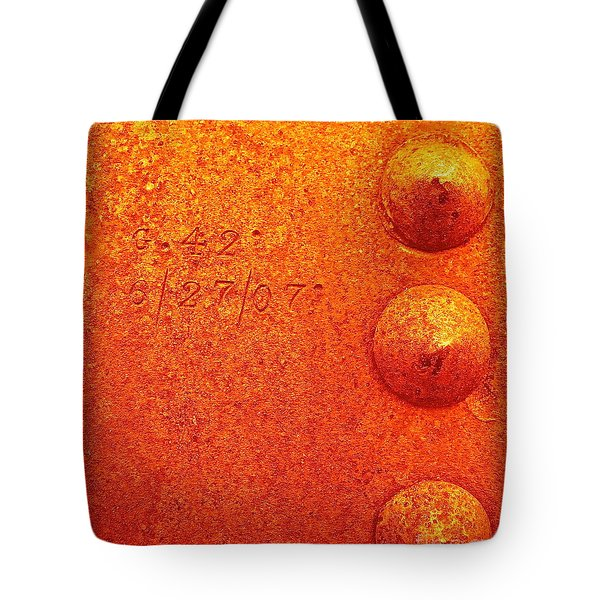 Rivets Tote Bag by Linda Bianic
