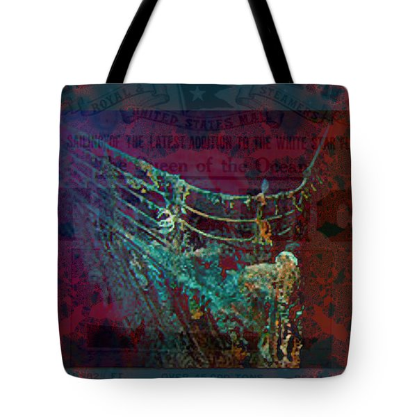 Rms Titanic Sinks  Tote Bag by Elizabeth McTaggart