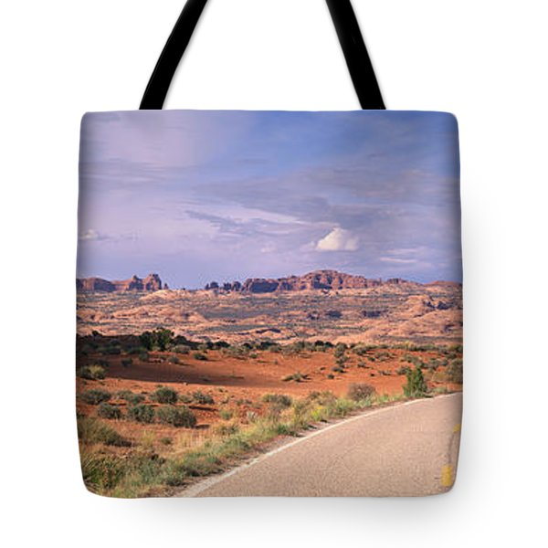 Road Courthouse Towers Arches National Tote Bag