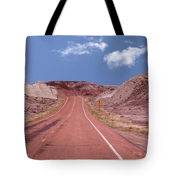 Road Curves Tote Bag