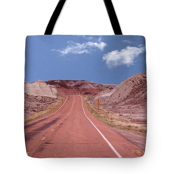 Road Curves Tote Bag