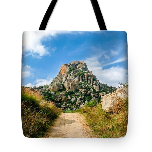 Road Into The Hills Tote Bag