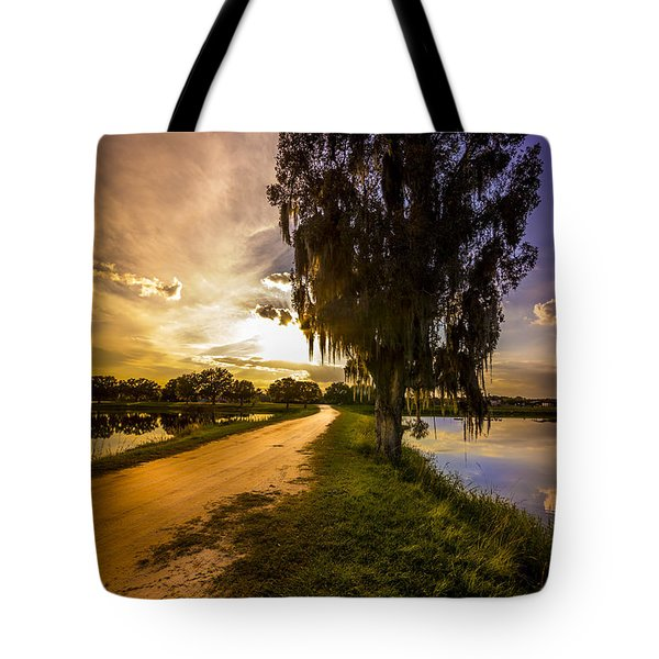 Road Into The Light Tote Bag