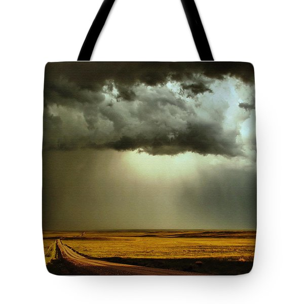 Road Into The Storm Tote Bag