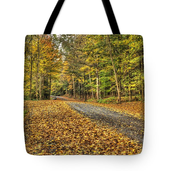 Road Into Woods Tote Bag