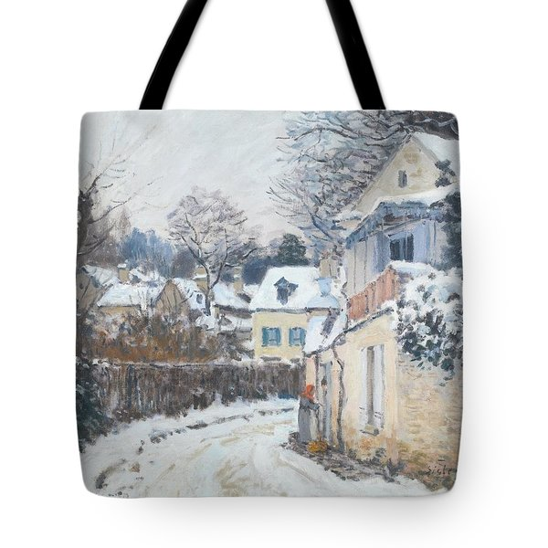 Tote Bag featuring the painting Road Louveciennes by Alfred Sisley
