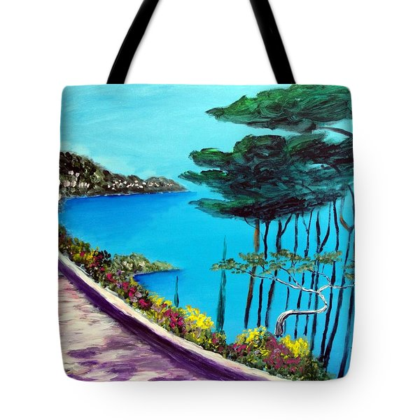 Road On The Riviera Tote Bag