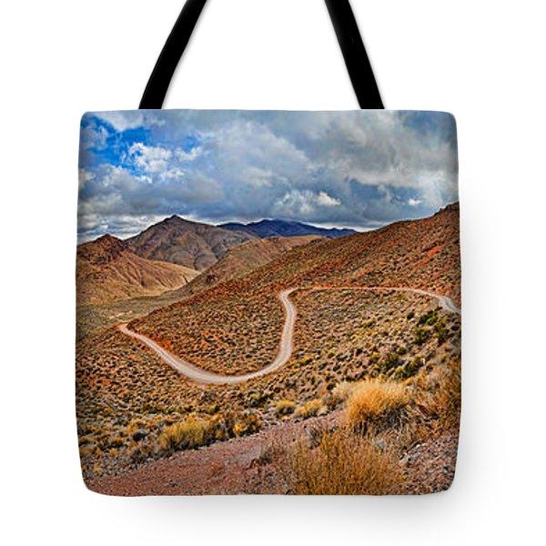 Road Passing Through Landscape, Titus Tote Bag