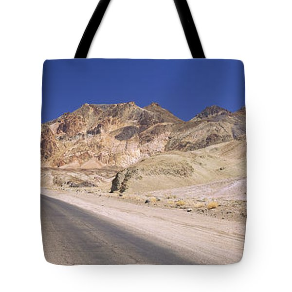 Road Passing Through Mountains, Artists Tote Bag