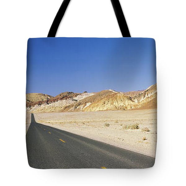 Road Passing Through Mountains, Death Tote Bag