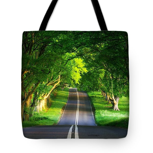 Tote Bag featuring the digital art Road Pictures by Marvin Blaine