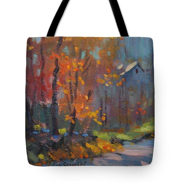 Road South Tote Bag by Len Stomski