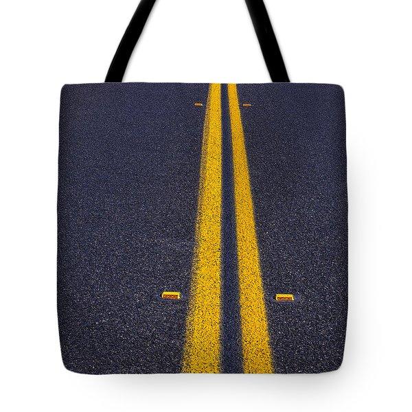 Road Stripe  Tote Bag by Garry Gay