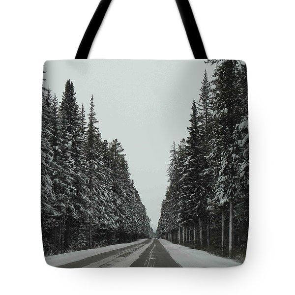 Road To Banff Tote Bag by Cheryl Miller