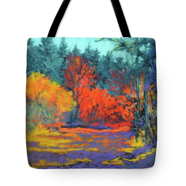 Tote Bag featuring the painting Road To Deer Creek by Nancy Jolley