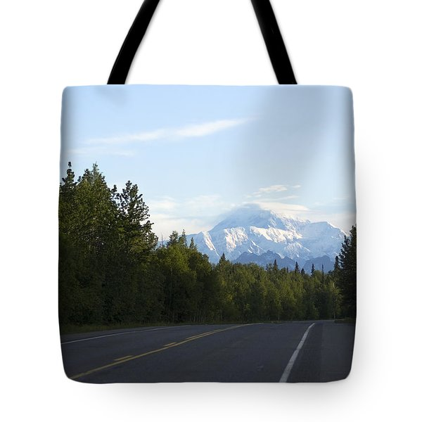 Road To Denali  Tote Bag