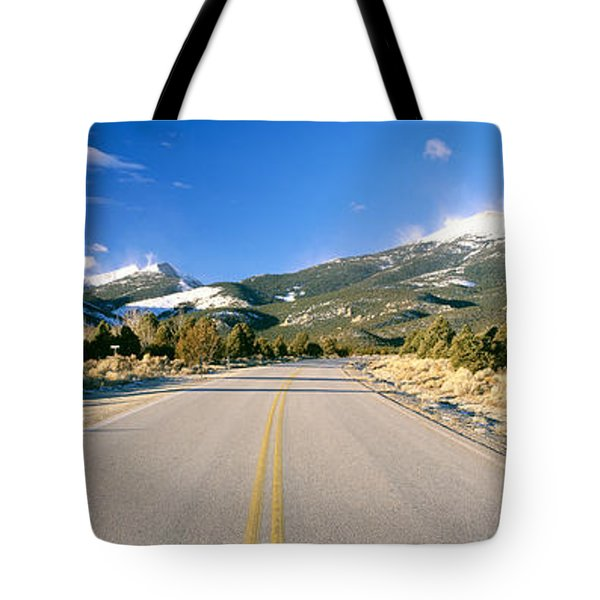 Road To Great Basin National Park Tote Bag