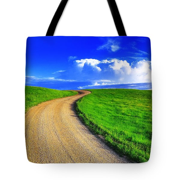 Tote Bag featuring the photograph Road To Heaven by Kadek Susanto