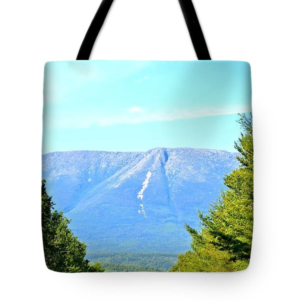 Road To Katahdin Tote Bag by Tara Potts