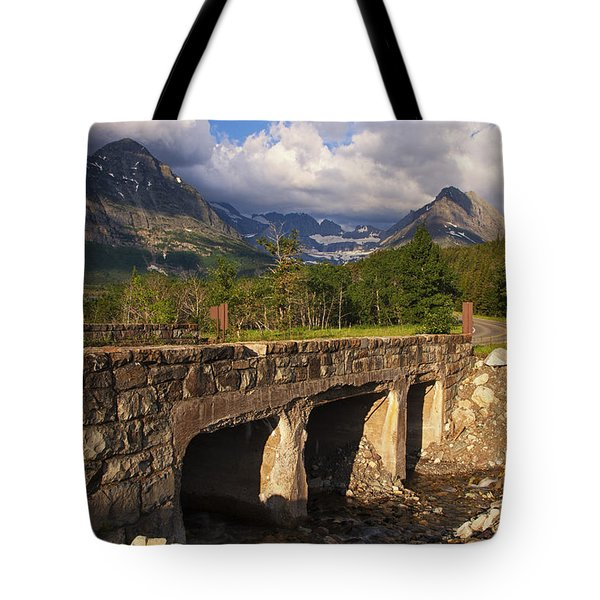 Road To Many Glacier Tote Bag